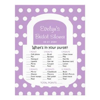 Purse Bridal Shower Game - African Violet Flyer