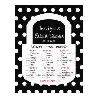Purse Bridal Shower Game - Black Flyer