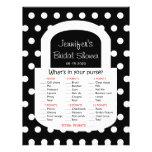 Purse Bridal Shower Game - Black Flyer Design