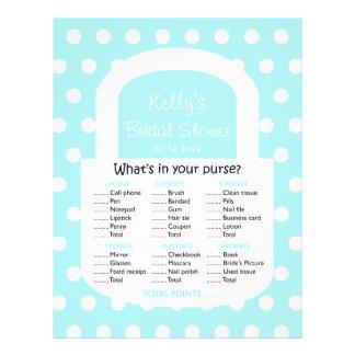 Purse Bridal Shower Game - Blue Flyer
