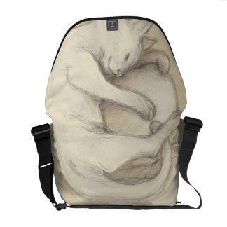 Purse cat sleeping courier bag