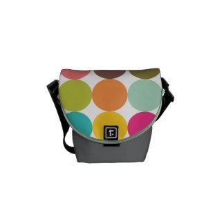 Purse Circles of Colors Messenger Bags