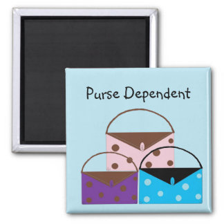 Purse Dependent 2 Inch Square Magnet