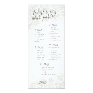 Purse Game - Bridal Shower Game Cards