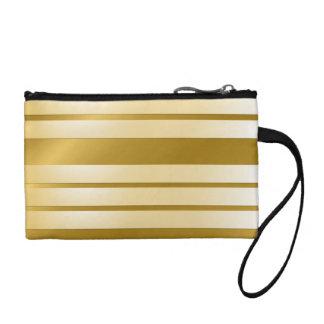 Purse GOLD horizontal lines