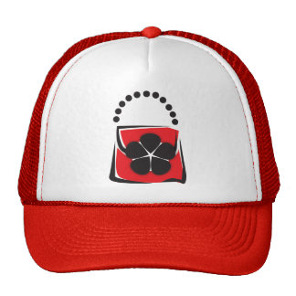 Purse in Red and Black Trucker Hat