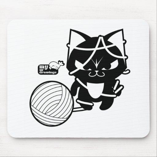 purse neko mouse pad