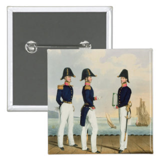 Pursers and Captain's Clerk, plate 7 from 'Costume 2 Inch Square Button