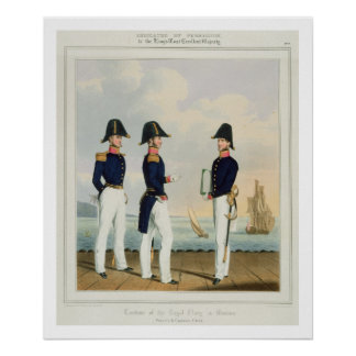 Pursers and Captain's Clerk, plate 7 from 'Costume Poster