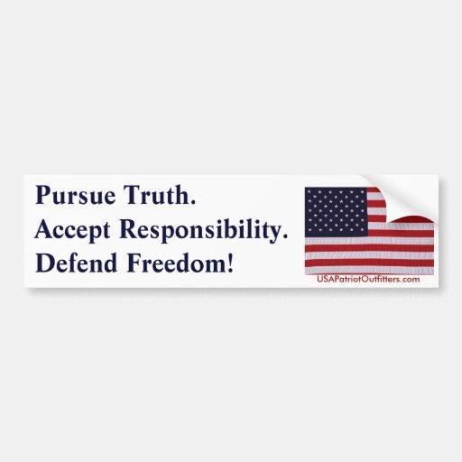 Pursue Truth #1.0 Bumper Sticker