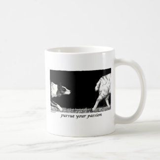 Pursue your passion Border Collie Classic White Coffee Mug