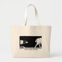 Pursue your passion Border Collie Large Tote Bag