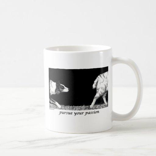 Pursue your passion Border Collie Mugs