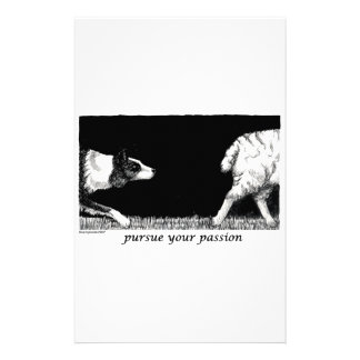 Pursue your passion Border Collie Stationery