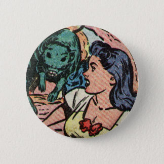 Pursued By Alien Monsters! Pinback Button
