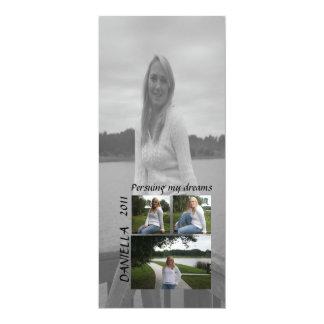Pursuing my dreams graduation photo card