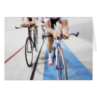 Pursuit cycling team in action card