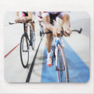 Pursuit cycling team in action mouse pad