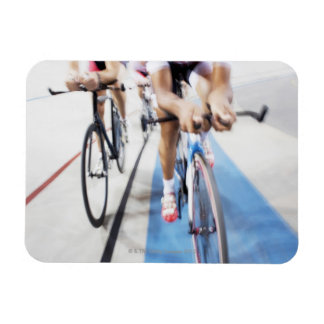 Pursuit cycling team in action rectangular photo magnet