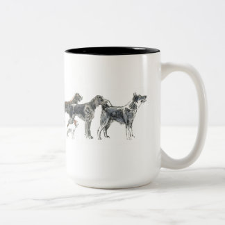 Pursuit dogs for you that chases with dog Two-Tone coffee mug