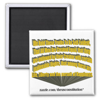 Pursuit of Happiness 3D Yellow 2 Inch Square Magnet
