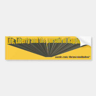 Pursuit of Happiness 3D Yellow Bumper Sticker