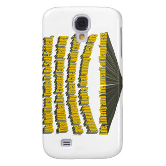 Pursuit of Happiness 3D Yellow Galaxy S4 Cover