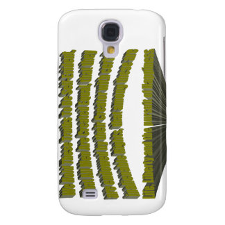 Pursuit of Happiness 3D Yellow Samsung Galaxy S4 Cover