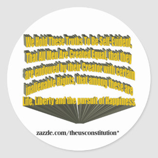 Pursuit of Happiness 3D Yellow Classic Round Sticker