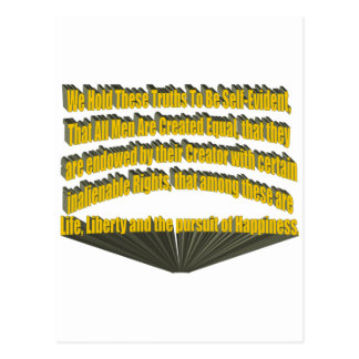 Pursuit of Happiness 3D Yellow Postcard
