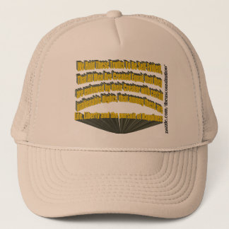 Pursuit of Happiness 3D Yellow Trucker Hat