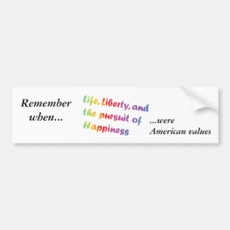 Pursuit of Happiness Bumper Sticker