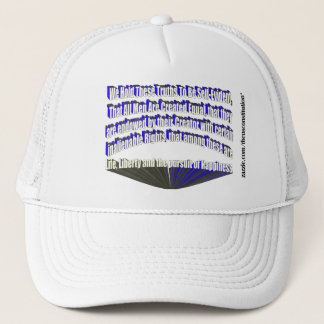 Pursuit of Happiness White Blue Trucker Hat