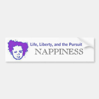 Pursuit of Nappiness Bumper Sticker - Customized
