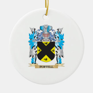 Purtell Coat of Arms - Family Crest Ceramic Ornament