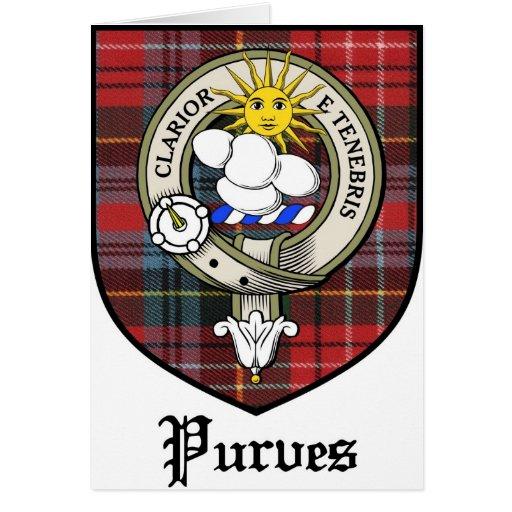 Purves Clan Crest Badge Tartan Cards