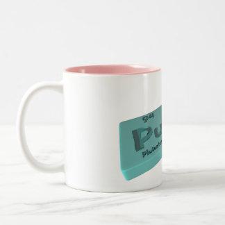 Pus as Pu Plutonium and S Sulfur Two-Tone Coffee Mug