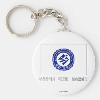 Pusan Flag with Name Keychain