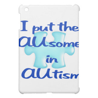 Puse el impresionante en caso del iPad del autismo
