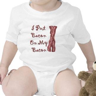Puse el tocino en mi tocino trajes de bebé