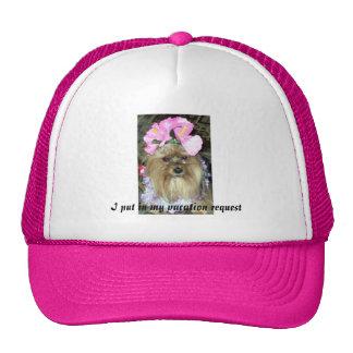 Puse en mi casquillo de la petición de las vacacio gorras de camionero