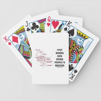 Puse palabras en las bocas de la otra gente (la baraja cartas de poker