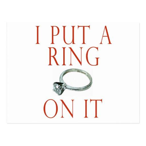 Puse un anillo en él compromiso del novio postales