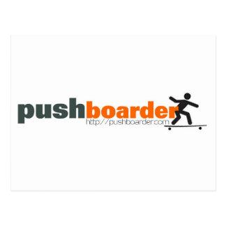 Push Boarder Official Logo Designs Postcard