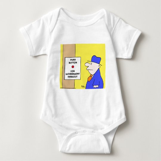 push button for government handout baby bodysuit