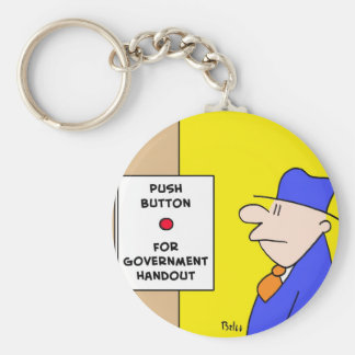 push button for government handout basic round button keychain
