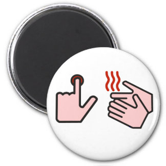 push button receive bacon 2 inch round magnet