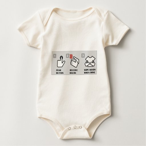 Push button, receive bacon baby bodysuits