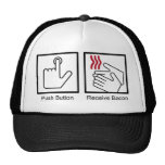 Push Button, Receive Bacon - Bacon Dispenser Mesh Hats