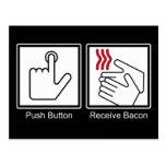 Push Button, Receive Bacon - Bacon Dispenser Postcards